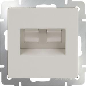Розетка телефонная RJ-11 и Ethernet RJ-45 Werkel WL03-RJ11-45-ivory (слоновая кость)