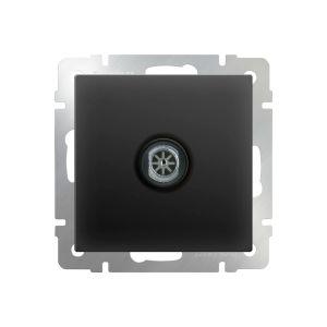 ТВ-розетка оконечная Werkel WL08-TV (черный матовый) (W1183008)