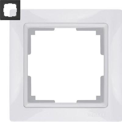 Рамка на 1 пост Werkel WL03-Frame-01-white (белая)