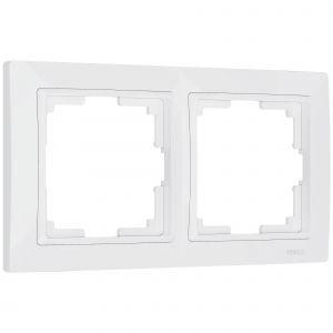 Рамка на 2 поста Werkel WL03-Frame-02-white (белая)