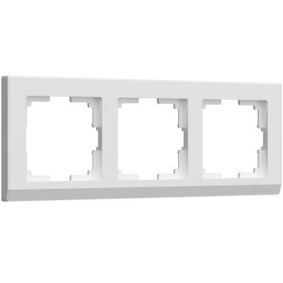 Рамка на 3 поста Werkel WL03-Frame-03-white (белая)