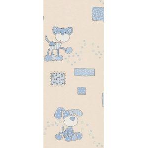 Обои МОФ Детский 112703-2 бумажные дуплекс 0,53х10,05м голубой