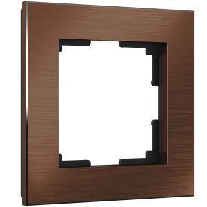 Рамка на 1 пост Werkel WL11-Frame-01 (коричневый алюминий)