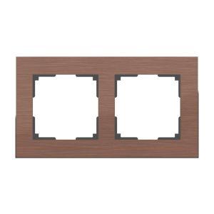 Рамка на 2 поста Werkel WL11-Frame-02 (коричневый алюминий)