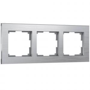 Рамка на 3 поста Werkel WL11-Frame-03 (алюминий)