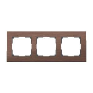 Рамка на 3 поста Werkel WL11-Frame-03 (коричневый алюминий)