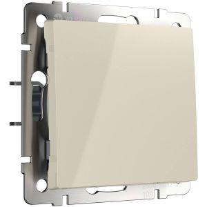 Выключатель одноклавишный проходной с подсветкой Werkel (слоновая кость) WL03-SW-1G-2W-LED-ivory