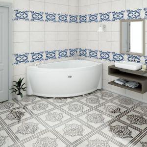 Акриловая ванна Vannesa Бергамо 1680х1000х670, левая, с экраном, без г/м
