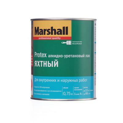 Лак Marshall Protex Яхтный полуматовый 0,75л.