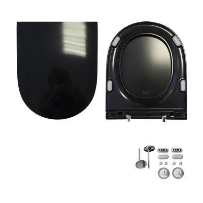 Унитаз-компакт Sanita luxe  Best Color Black BSTSLCC06100522,с черным сиденьем из дюропласта