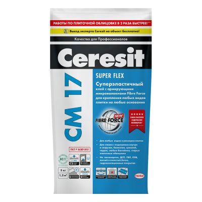 Клей плиточный Ceresit СМ-17 5 кг