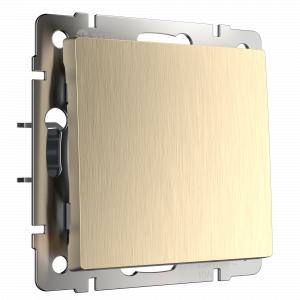 Выключатель одноклавишный Werkel (шампань рифленый) WL10-SW-1G