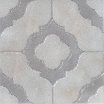 Керамогранит MLD\A 64\TU0031L Помильяно серый лаппатированный вставка  14,5х14,5