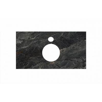 Столешница Kerama Marazzi Plaza PL1.VT93/100 Риальто темно-серый  лапатированный для накладных раковин
