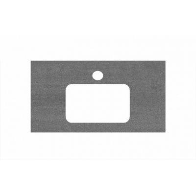 Столешница Kerama Marazzi Plaza PL2.DD500600R/80 Про Дабл антрацит, для раковин встраиваемых сверху (48х80см)