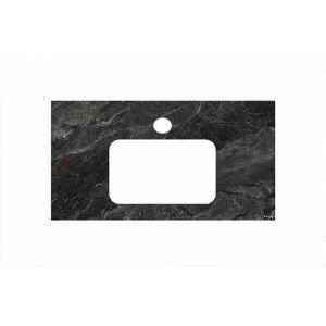 Столешница Kerama Marazzi Plaza PL2.VT93/80 Риальто темно-серый лаппатированный  для раковин встраиваемых сверху