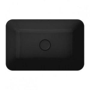 Раковина Kerama Marazzi Plaza PLR.wb.55/BLK.M (55х36см),черная, накладная, без отв. под смеситель,с дон.кл.
