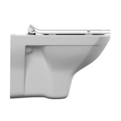 Унитаз подвесной Cersanit Carina XL Clean On DPL EO slim, безободковый, ультротонкое сиденье, белый